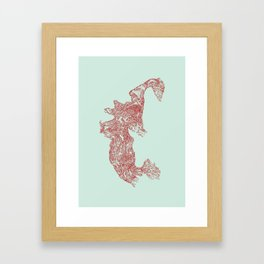 'Inheritance' (4 of 6). Original ink drawings re-coloured in Photoshop. (Other colourways available) Framed Art Print