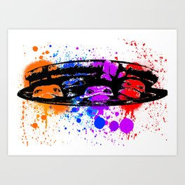 TURTLE SPLATTER Art Print