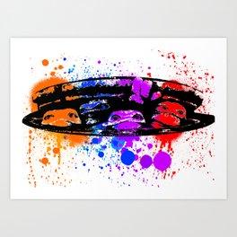 TURTLE SPLATTER Art Print