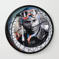 pilot Wall Clocks featuring Pilot by Jedi Master Schmidt