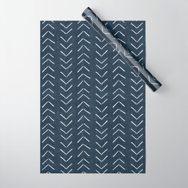Mud Cloth Big Arrows in Navy Wrapping Paper