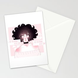 cough it out Stationery Cards