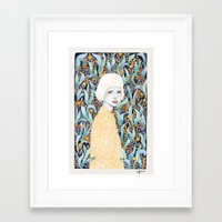 Framed Art Prints featuring Emilia by Sofia Bonati