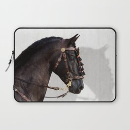 Andalusian stallion in traditional Spanish bridle Laptop Sleeve