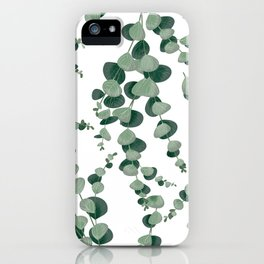 Eucalyptus leaves in white iPhone Case