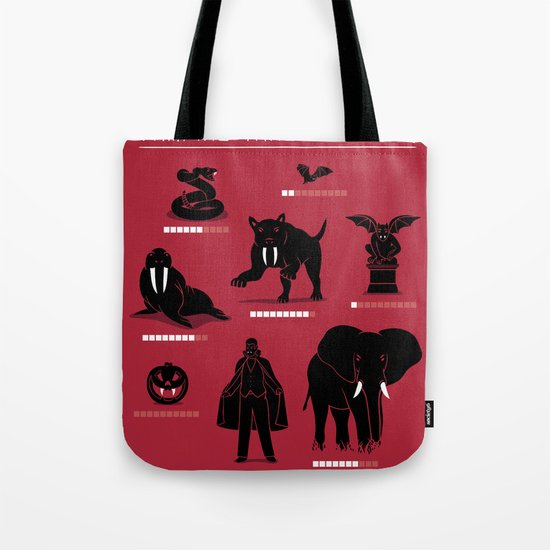 Vampire Threat Levels Tote Bag