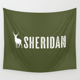 Deer: Sheridan, Wyoming Wall Tapestry