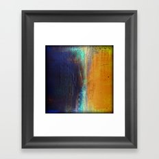 Navy and Gold Framed Art Print
