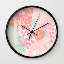 Brinley - abstract painting minimal modern art print home decor must haves Wall Clock