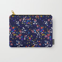 Star Floral Carry-All Pouch