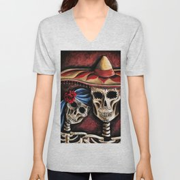 The day of the Dead Unisex V-Neck