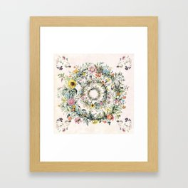 Circle of life- floral Framed Art Print