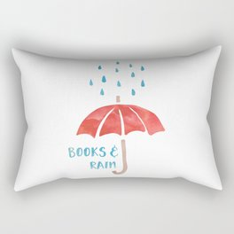 Books and Rain Rectangular Pillow