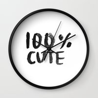 the 100 Wall Clocks featuring 100% Cute by Laurel Mae
