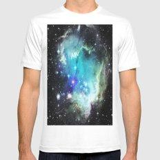 galaxy White Mens Fitted Tee MEDIUM