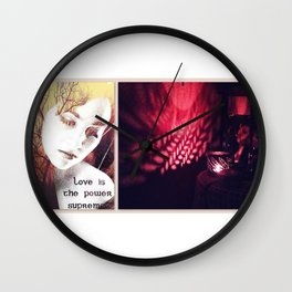Love is the power supreme Wall Clock