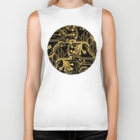 techno Biker Tanks featuring Techno Organic  by Leigh Wortley