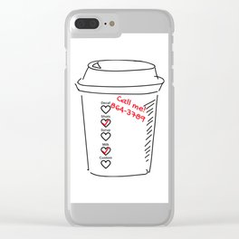 Coffee Cup Romance Clear iPhone Case