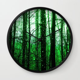 Emerald Forest Wall Clock