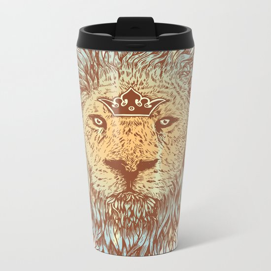 The Blue-Blooded and the Brave Metal Travel Mug