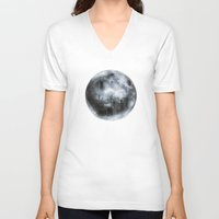 dark side of the moon V-neck T-shirts featuring The Dark Side of the Moon by Viviana Gonzalez