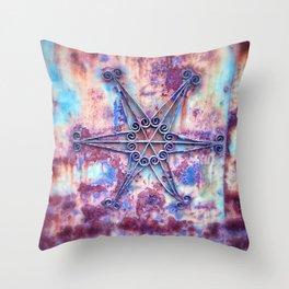 Star Rust Throw Pillow