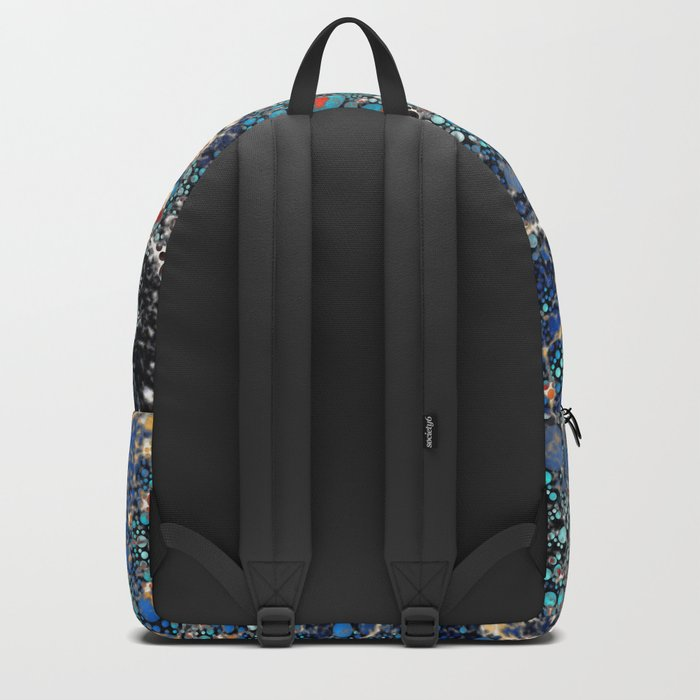 Marble and Bubble Abstract Backpack