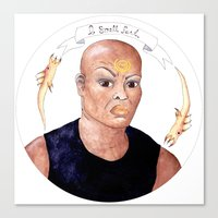 stargate Canvas Prints featuring Stargate - Teal'c by Sunol Golden