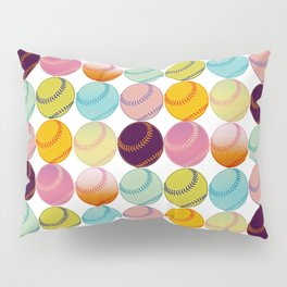 Pop Art Baseballs Pillow Sham