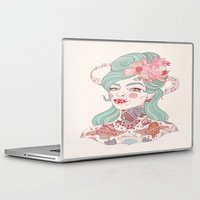boobs Laptop & iPad Skins featuring 2015 Bands for Boobs Design by Liz Clements by Bands for Boobs