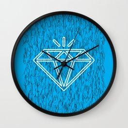 diamond cyan Wall Clock