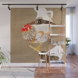 Ito Jakuchu - Hen and Rooster with Grapevine Wall Mural