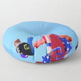 Super...on the beach Floor Pillow