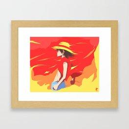 Monkey D Luffy Framed Art Print