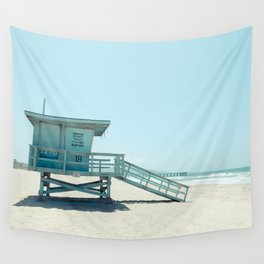 Hermosa Beach Lifeguard Tower 19 Wall Tapestry