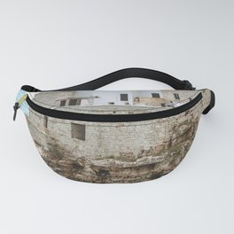 Aerial shot of Polignano a Mare Italy Fanny Pack