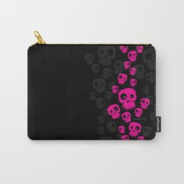 Skulls Fun - pink/black Carry-All Pouch