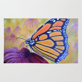 King of butterfly | Le roi des papillons Rug