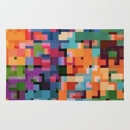 Colorful Squares Abstract Art Decim8 Home Decor Gift Rug