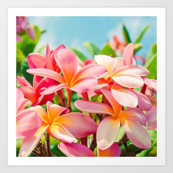 Pua Melia ke Aloha Maui Art Print