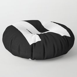 Letter N (White & Black) Floor Pillow