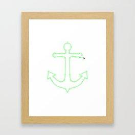 Anchor Points Framed Art Print