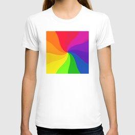 Color wheel pin wheel T-shirt