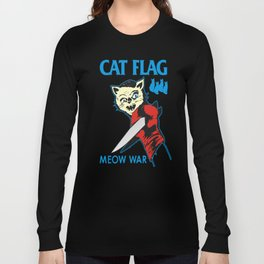 Cat Flag Meow War  Long Sleeve T-shirt