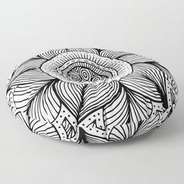 Doodle Flower Floor Pillow