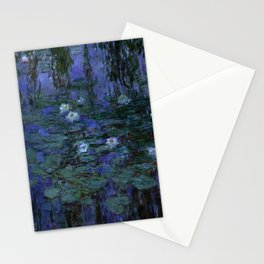 Blue Water Lilies Monet 1916- 1919 Stationery Cards