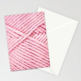 Pink Yarn Stationery Cards
