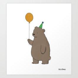 Bear Party Art Print