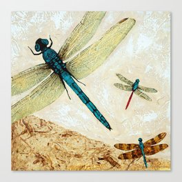 Zen Flight - Dragonfly Art By Sharon Cummings Canvas Print