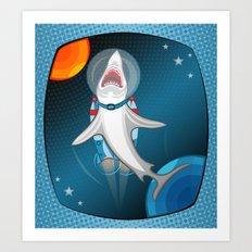 shark in space Art Print